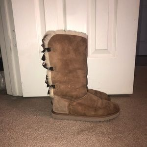 UGG Shoes - UGG Bailey Bow TALL II suede water-resistant boots